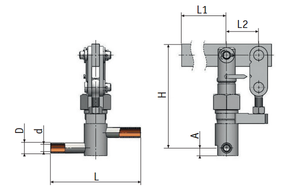 Regulating needle valves with lever actuation 9с-1-2| Picture