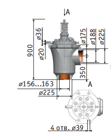 Main safety valve 1203-150/200-0-02 Picture