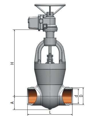 Gate valve on a high pressure 882-300-э Picture
