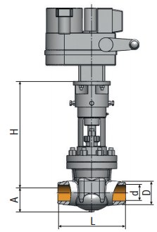 Gate valve 2c-33-1 on medium parameters| Picture
